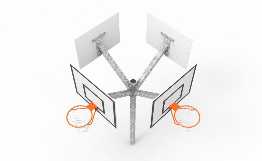 Tour multi paniers de Basketball metalu Plast