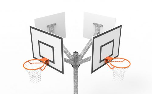 Basketball multi-directional tower 4 heads top view Metalu plast manufacturer of sports equipment