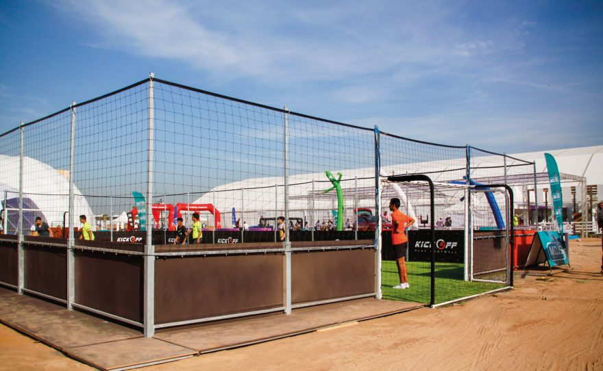 Transportable soccer field by Metalu Plast in Africa