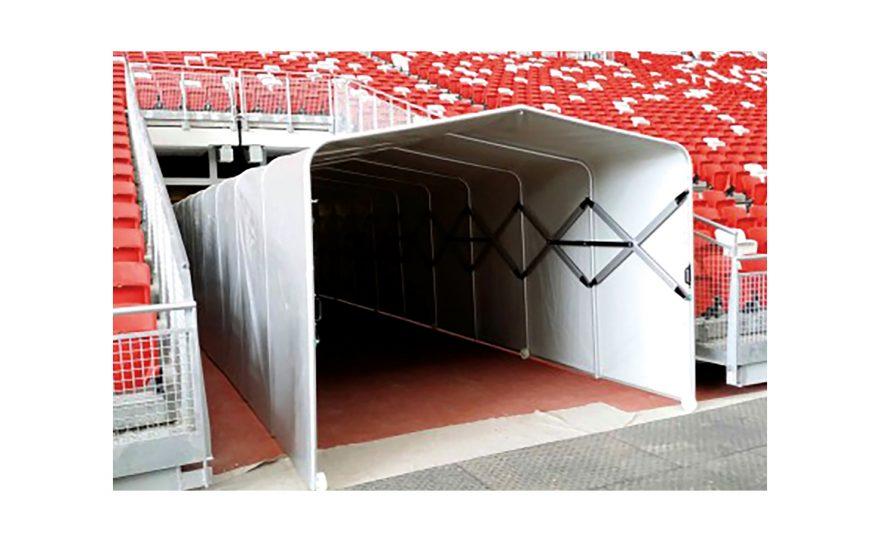 Tunnel pour accès terrain grand jeu Metalu Plast équipement football