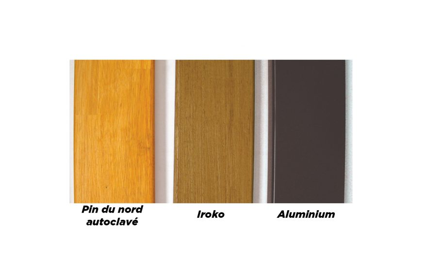 Locker room seats profile aluminium iroko and norther pine Metalu Plast