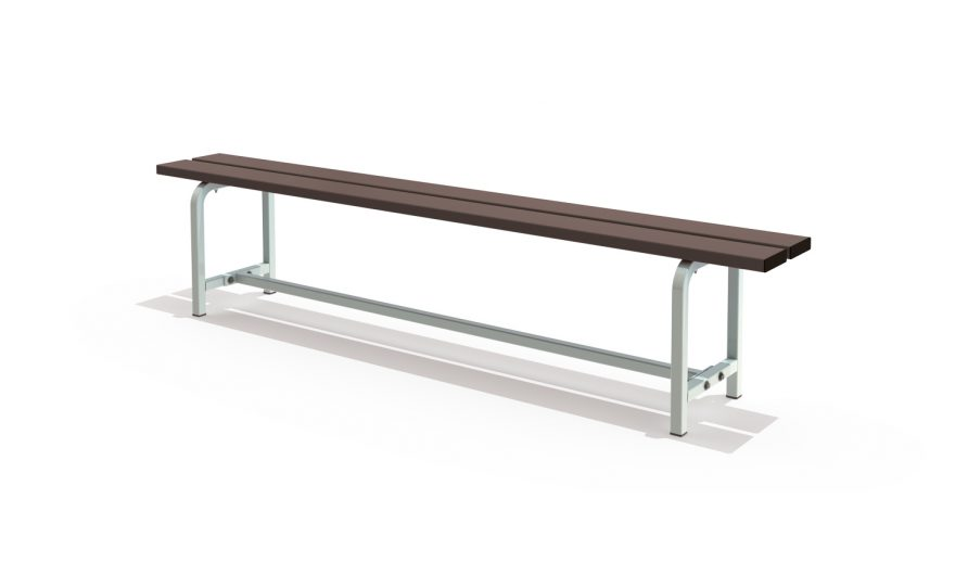 Transportable single bench Metalu Plast for Locker room
