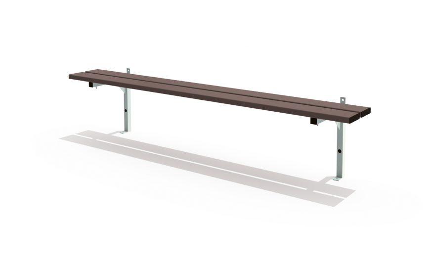 wall mounted single bench cloakroom Metalu Plast