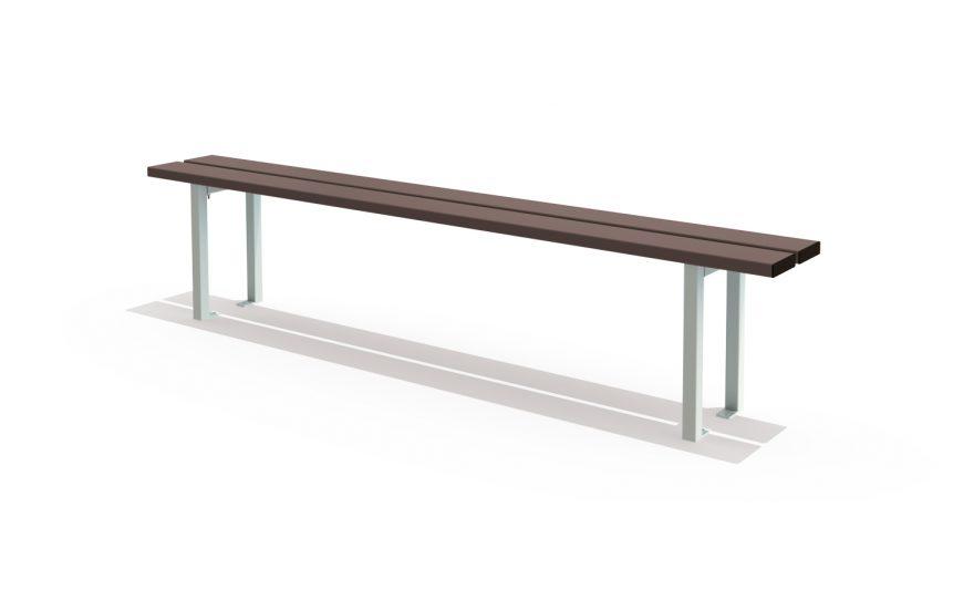 Floor mounted single bench Metalu Plast