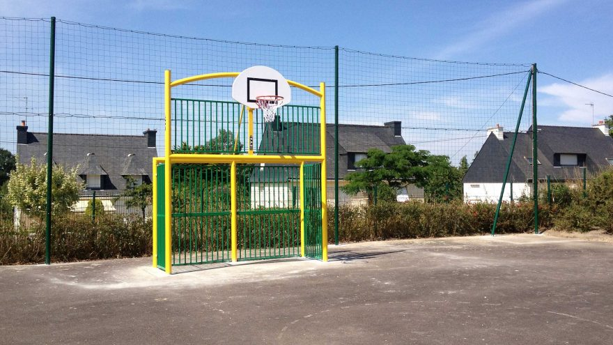 fronton multisport basketball football et hand classic vert Metalu Plast