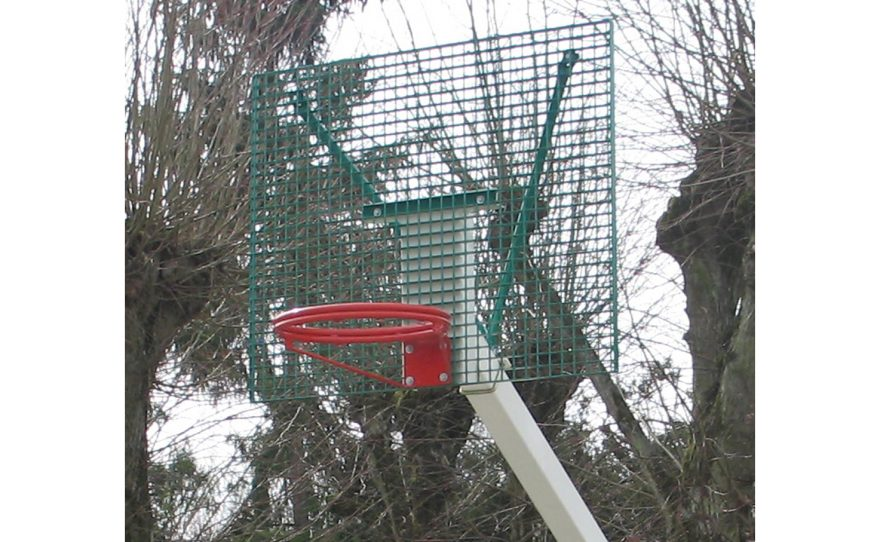 But de basket de rue avec cercle plat sans filet