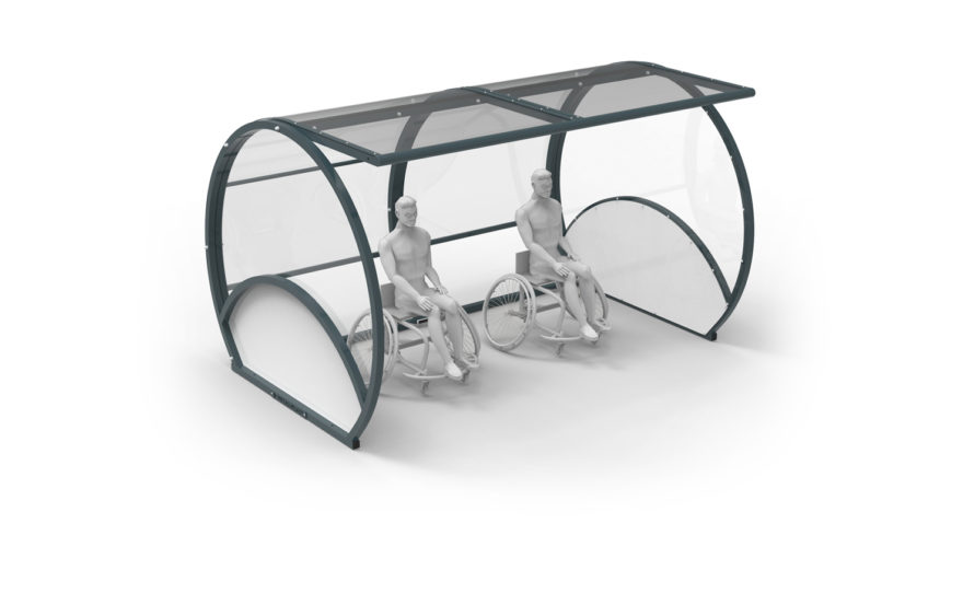 Team-shelter for people with reduced mobility - handisport