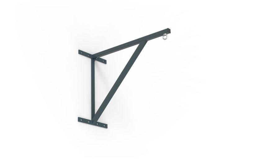 Potence de boxe fixe déport 70 cm en acier plastifié