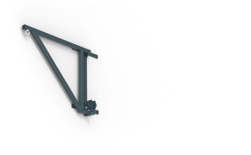 Potence de boxe repliée 90 cm en acier plastifié
