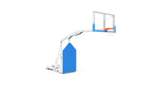 Mobile folding-in competition basketball goal