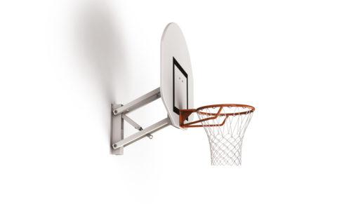 Wall-mounted training basketball goal