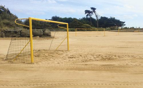 But de beach soccer en aluminium plastifié