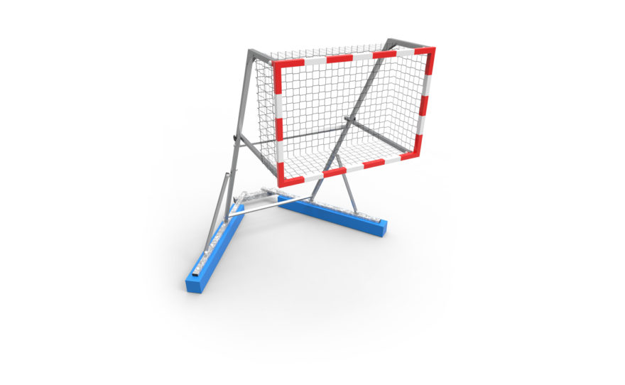 But de kayak polo sur flotteur de competition - structure acier galvanisé - cadre aluminium