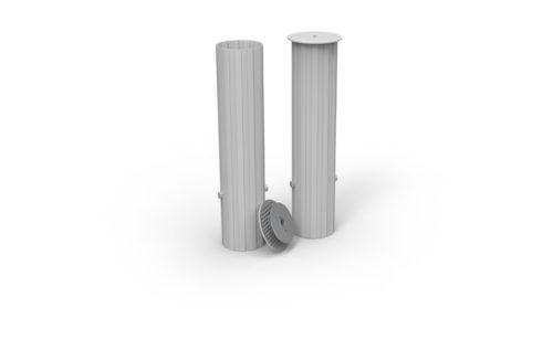 Fourreaux de scellement en aluminium brut
