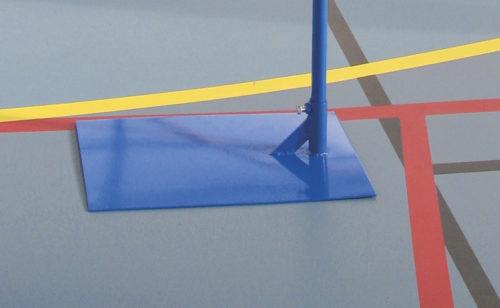 Poteau de badminton loisir à lester en acier plastifié bleu