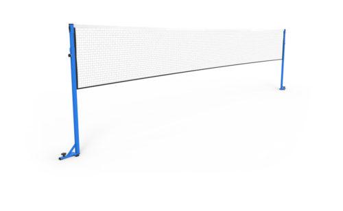 Poteaux de badminton de compétition à sceller sur embase