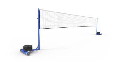 Poteaux de badminton auto-stable de compétition à lester