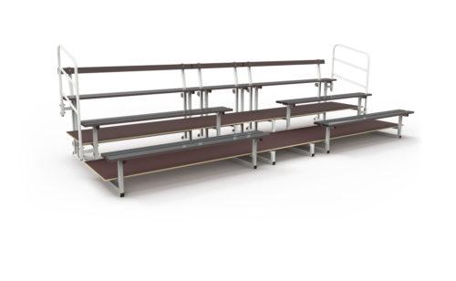 Tribune mobile en acier plastifié et bois marine