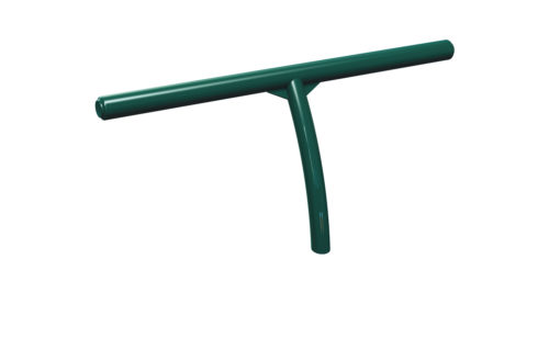 Curved standing bench - Plastic coated steel