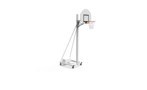 mobile basketball goal free standing