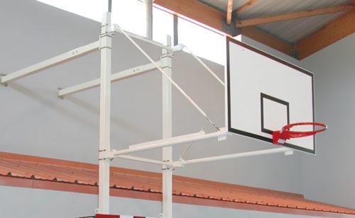 Wall-mounted basketball goal with handball goal