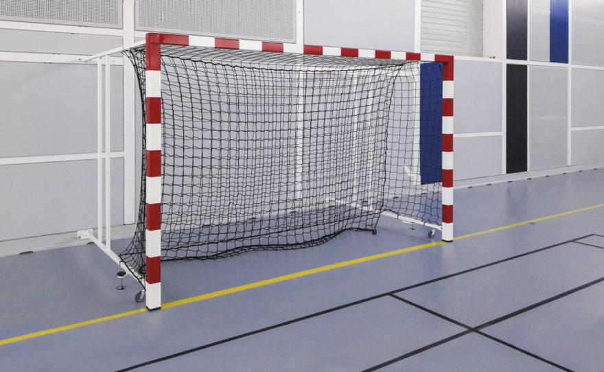 But de handball rabattable fixation murale
