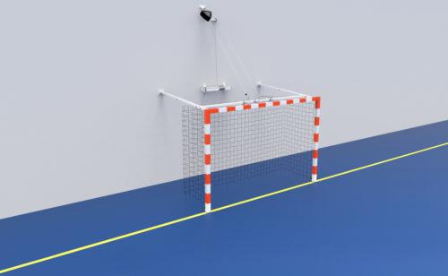 But de handball relevable avec treuil