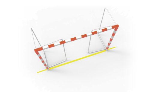 But de handball avec arceaux repliables en acier