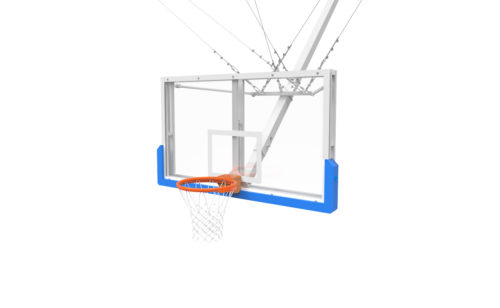 Raisable roof-mounted basketball goal