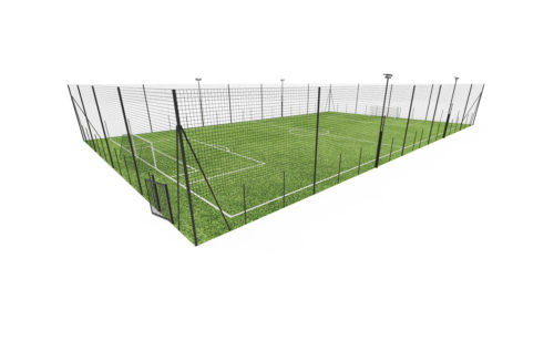 Terrain de football à 7 - 7V7 - structure acier palstifié