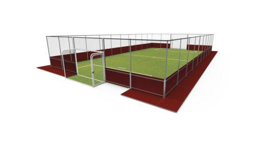 Terrain de soccer autoportant démontable - structure acier galvanisé