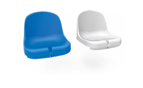 Plastic moulded seat for football dugout