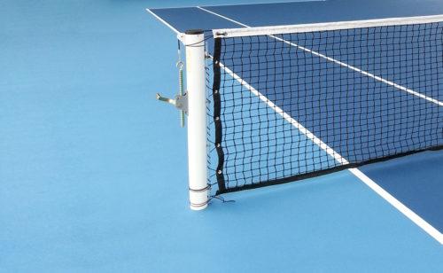 Poteau de tennis rond en acier ou aluminium
