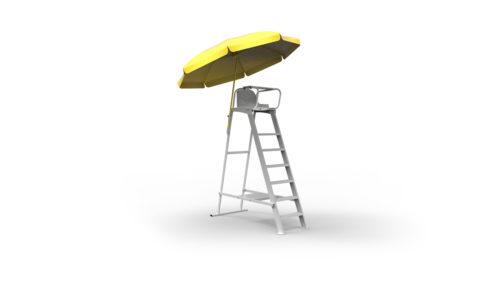Support parasol pour chaise d'arbitre de tennis