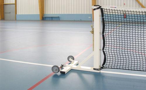 Poteaux de tennis mobile sur embase