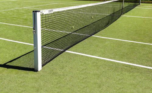 Poteaux de tennis carré en aluminium ou en acier plastifié