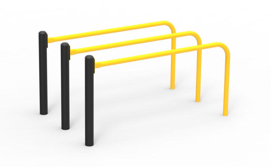 Agrès street workout, triple barre parallèles